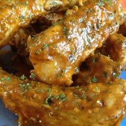 Costillas de Cerdo con Salsa Currywurst.