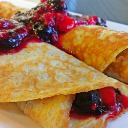 CREPES DE FRUTOS ROJOS.