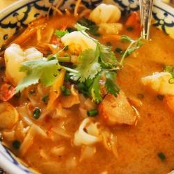 Sopa Tailandesa Picante de Marisco.